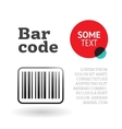 Brochure or page template with barcode vector image