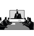 business men and women having teleconference vector image