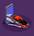 car tuning isometric design concept vector image