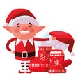 christmas elf design vector image