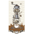 Coffee house in the city vector image vector image