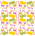 colorful animals pattern vector image vector image