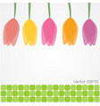 colorful tulip flowers background vector image