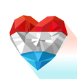 crystal gem jewelry heart of the Grand Duchy of vector image vector image
