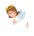 cute angel manger character vector image vector image