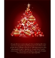 Elegant Christmas Tree card vector image vector image