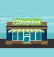 facade of pharmacy flat vector image vector image
