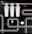 filters for water purification and pipeline vector image vector image