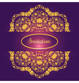 Floral decorated invitation card with antique vector image