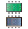 Game room Foot ball table top view vector image vector image