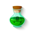 Glass bottle with a green toxic liquid vector image vector image