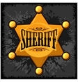 Golden sheriff star badge on vector image vector image
