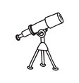hand drawn telescope doodle icon vector image vector image