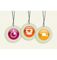 hanging delivery badges vector image vector image
