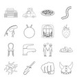 history fishing furniture and other web icon in vector image vector image