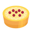 holiday cherry cake icon isometric style vector image vector image