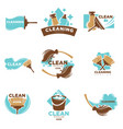 home cleaning service of washing or mopping vector image vector image
