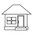 house facade small steps architecture outline icon vector image