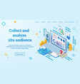 internet user experience research webpage vector image vector image