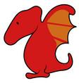 isolated cute dinosaur cartoon character vector image