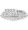java cigars text background word cloud concept vector image vector image