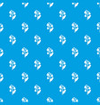 lily valley pattern seamless blue vector image