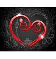 Male and Female forming Love Symbol vector image vector image