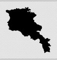 map armenia isolated black vector image