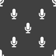 microphone icon sign Seamless pattern on a gray vector image vector image