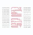 mixtable font alphabet vector image vector image