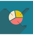 Modern flat icon with shadow pie Chart vector image vector image