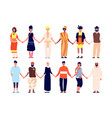 multicultural friendship ethnic people group vector image vector image