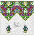 oriental decorative template for greeting card or vector image