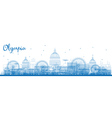 Outline Olympia Washington Skyline vector image vector image