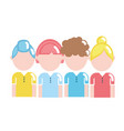 people with hairstyle design and clothes vector image vector image