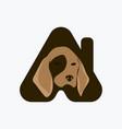 pet care logo vector image vector image