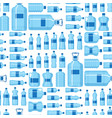 plastic water bottle blank nature blue vector image vector image