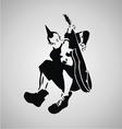 Punk Guitarist Stencil vector image vector image