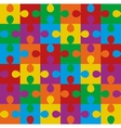 puzzle seamless pattern vector image vector image
