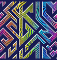 Rainbow color maze seamless pattern