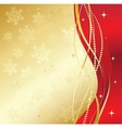 Red christmas abstract background vector image vector image