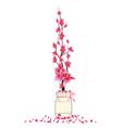sakura flowers spring with bird cherry blossom vector image vector image