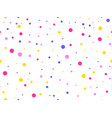 seamless pattern with colored circles celebratory vector image vector image
