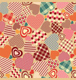 seamless vintage texture with hearts vector image