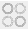 set of four round meander frames vector image vector image