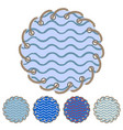 set of round stickers and labels vector image vector image