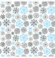 snowflakes seamless pattern christmas and new vector image vector image