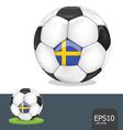 soccer ball sweden euro vector image vector image