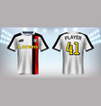 soccer jersey mockup template vector image vector image