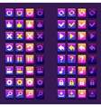 space game icons buttons icons interface ui vector image vector image